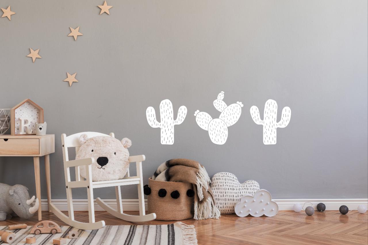 Muursticker kinderkamer cactus