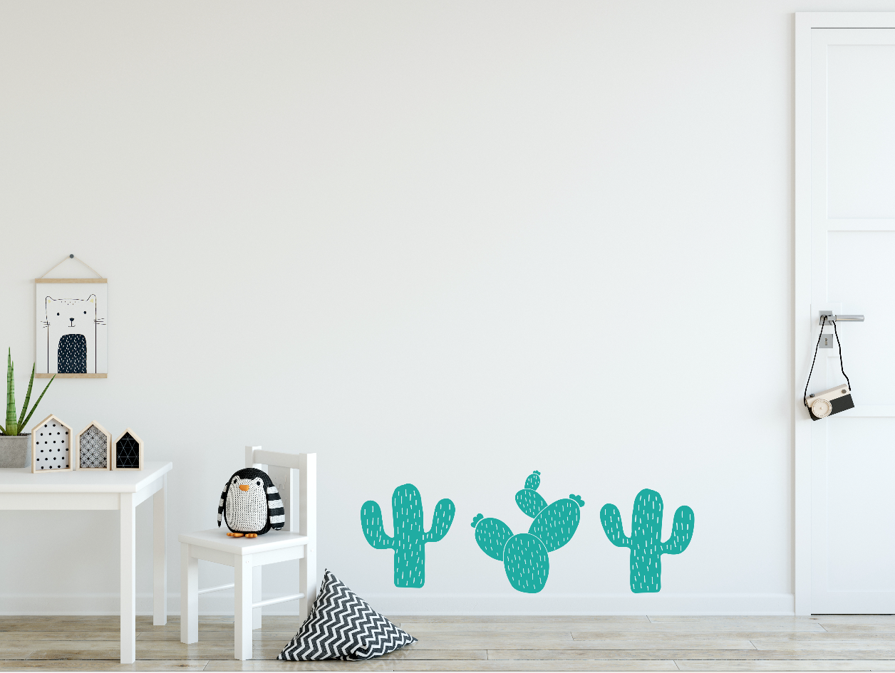 Muursticker kinderkamer cactussen