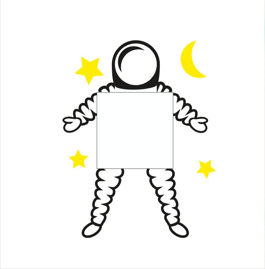 Muursticker babykamer ruimteman