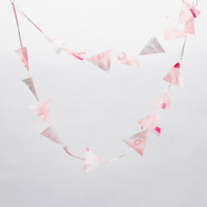roze vilten vlaggetjes