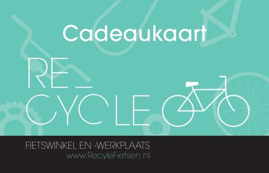 Recycle cadeaubon