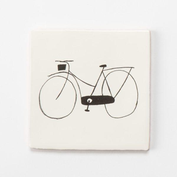 tegeltje minimalistisch fiets