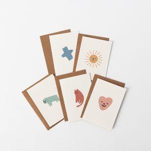 kaartenset illustraties